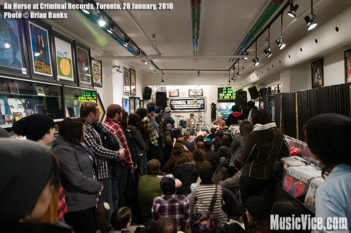 An Horse at Criminal Records, Toronto, 20 January 2010 - photo by Brian Banks, Music Vice