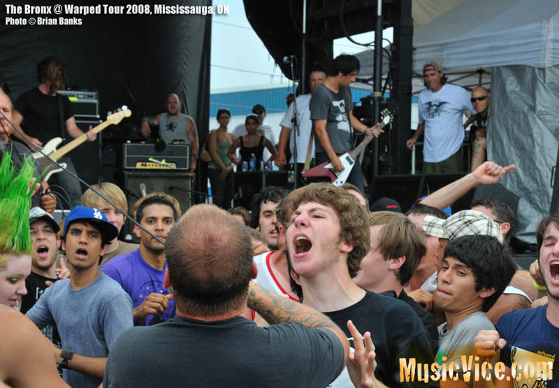 The Bronx at Warped Tour 2008 - photo by Brian Banks, Music Vice
