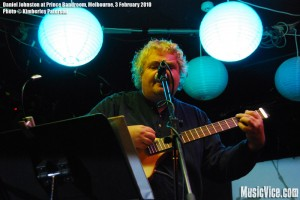 Daniel Johnston at Prince Bandroom, Melbourne, 3 February 2010 - photo by Kimberley Paterson, Music Vice