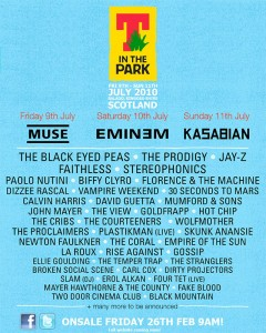 Eminem, Muse and Kasabian to headline T in The Park and Oxegen