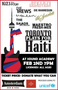 Toronto Plays For Haiti gig poster