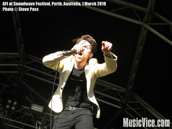 AFI at Soundwave Festival, Perth, 1 March 2010 - photo by Steve Pass, Music Vice