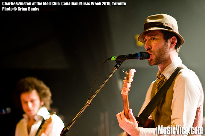 Charlie Winston performing at Canadian Music Fest, Canadian Music Week 2010, Toronto - photo by Brian Banks