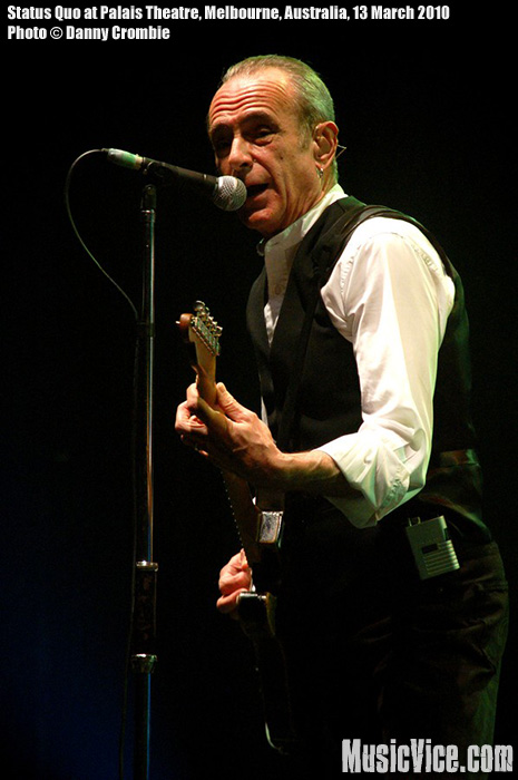 Francis Rossi of Status Quo at Palais Theatre, Melbourne, Australia, 13 March 2010 - photo by Danny Crombie, Music Vice