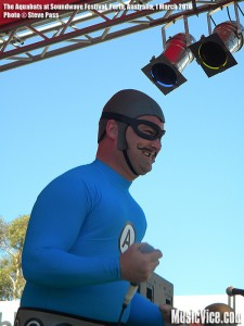 The Aquabats at Soundwave Festival, Perth, Australia, 1 March 2010 - photo by Steve Pass, Music Vice