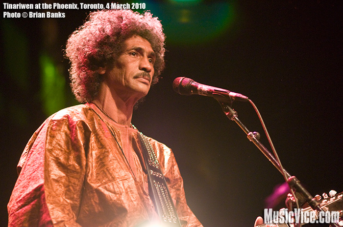 Ibrahim Ag Alhabib of Tinariwen performing at Phoenix Concert Theatre, Toronto, 4 March 2010 - photo by Brian Banks, Music Vice