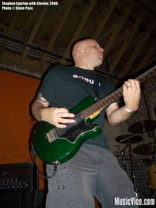 Stephen Egerton playing with Slorder, 2006 - photo Steve Pass, Music Vice
