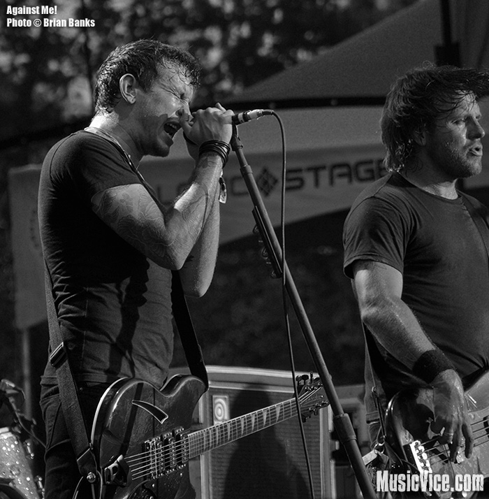 Against Me!'s Tom Gabel and Andrew Seward - photo by Brian Banks, Music Vice