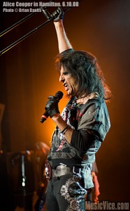 Picture of Alice Cooper, Pyscho Drama Tour at Copps Coliseum, Hamilton, ON, 2008 - photo by Brian Banks