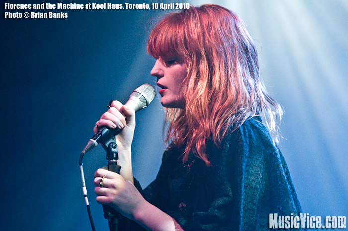 Florence and the Machine at Kool Haus, Toronto, 10 April 2010 - photo by Brian Banks, Music Vice