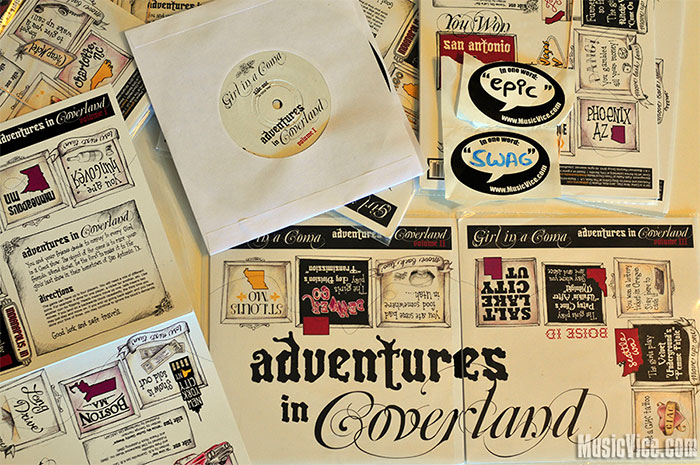 Girl in a Coma Adventures in Coverland vinyl giveaway - Music Vice