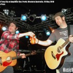 Joey Cape and Tony Sly at Amplifier Bar, Perth, Western Australia, 19 May 2010 - photo by Steve Pass, Music Vice