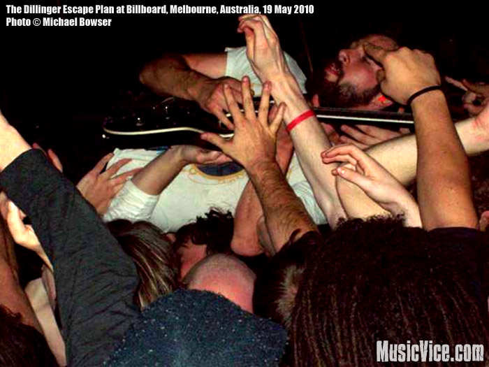 The Dillinger Escape Plan at Billboard The Venue, Melbourne, 19 May 2010 - Michael Bowser, Music Vice