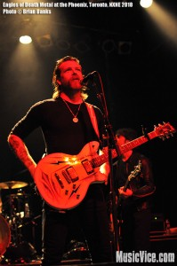 Eagles of Death Metal at Phoenix Concert Theatre, Toronto, 16 June, NXNE 2010 - photo by Brian Banks, Music Vice
