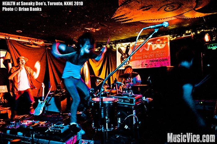 HEALTH at Sneaky Dee's, Toronto, NXNE 2010 - photo by Brian Banks, Music Vice