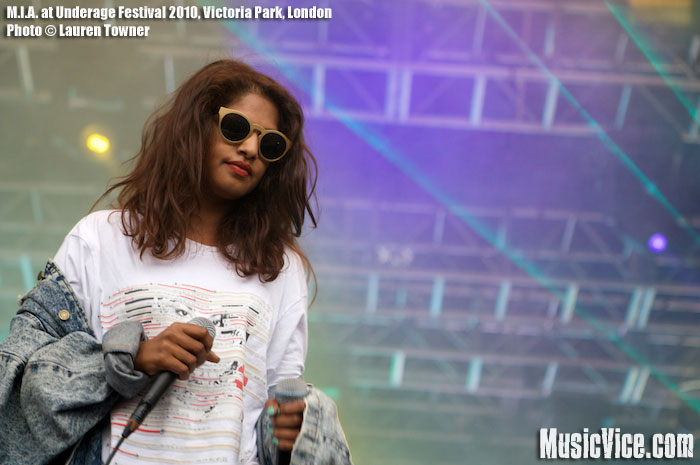 M.I.A. at Underage Festival, Victoria Park, London, 1 August 2010 - photo by Lauren Towner, Music Vice