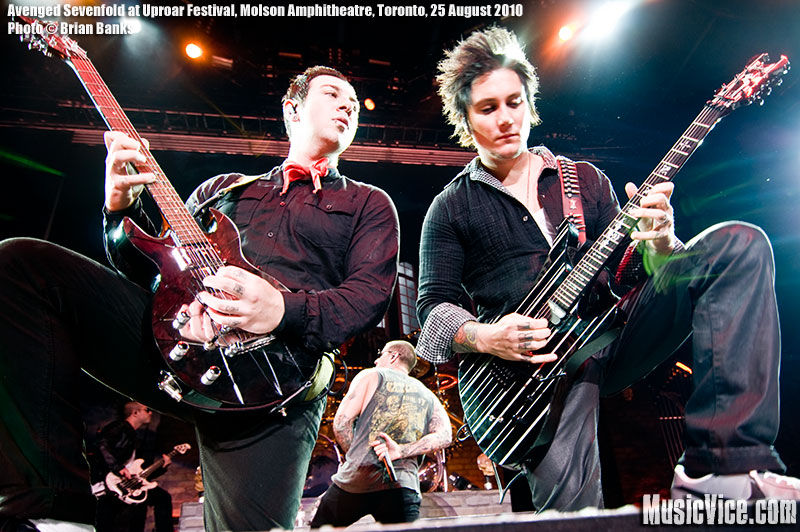 Avenged Sevenfold A7X at Rockstar Uproar Festival at Molson Amphitheatre, Toronto, 25 August 2010 - photo by Brian Banks, Music Vice