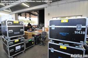 Backstage at Molson Amphitheatre during Rockstar Uproar Festival, Toronto, 25 August 2010 - photo by Brian Banks, Music Vice