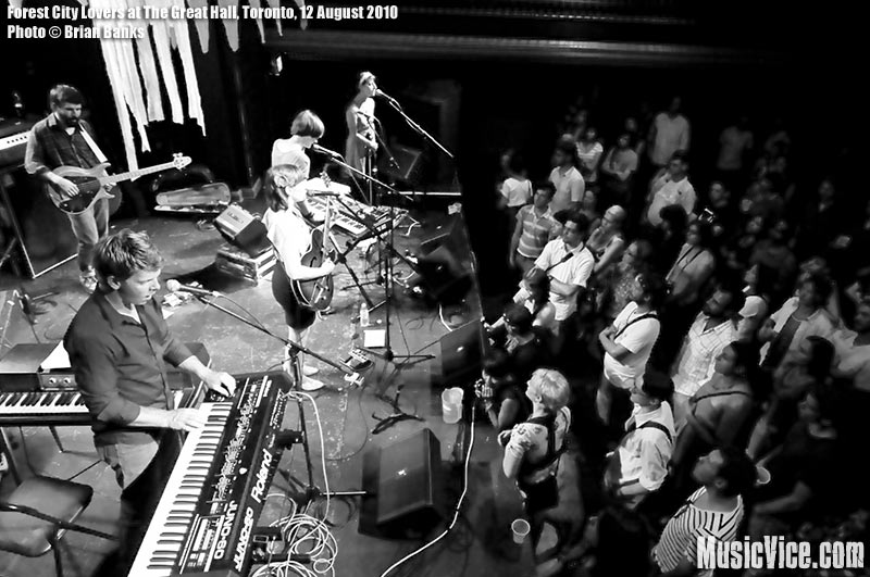 Forest City Lovers at The Great Hall, Toronto, 12 August 2010 - photo by Brian Banks, Music Vice