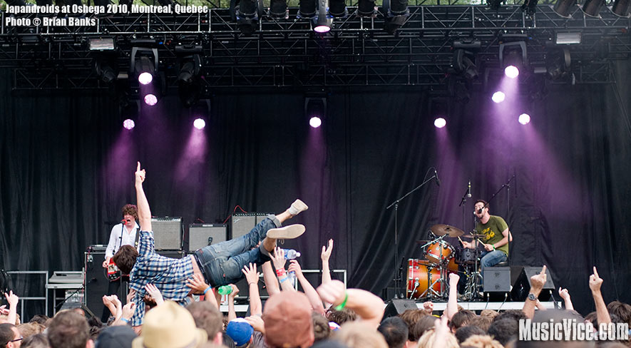 Japandroids at Osheaga music festival, Montreal, Quebec - photo by Brian Banks, Music Vice