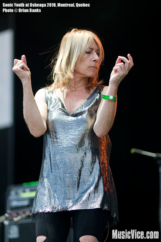Kim Gordon of Sonic Youth at Osheaga music festival, 1 August 2010 - photo by Brian Banks, Music Vice