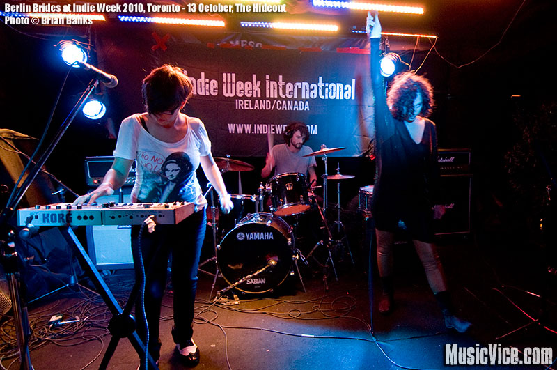 Berlin Brides at The Hideout, Toronto, Indie Week 2010 - photo Brian Banks, Music Vice, All Rights Reserved