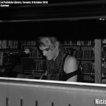 Diamond Rings at Parkdale Library, Toronto, 8 October 2010 - photo by Renee Saviour, Music Vice