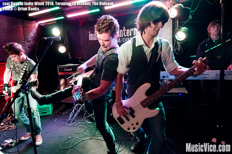 Lost Boys at The Hideout, Toronto, Indie Week 2010 - photo Brian Banks, Music Vice, All Rights Reserved