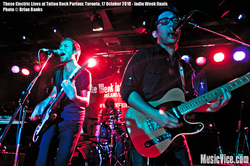 These Electric Lives winners of Indie Week 2010 at Tattoo Rock Parlour, Toronto, 17 October 2010 - photo by Brian Banks, Music Vice, All Rights Reserved