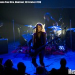 MAdM (Melissa Auf der Maur) at Cabert Juste Pour Riche, Montreal, 6 November 2010 - photo by Liz Keith, Music Vice, All Rights Reserved
