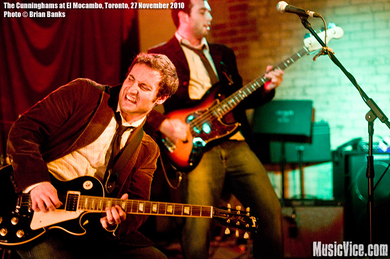 The Cunninghams at El Mocambo, Toronto, 27 November 2010 - photo by Brian Banks, Music Vice, All Rights Reserved