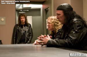 Anvil listening party - photo of Robb Reiner and Steve Kudlow by Brian Banks, Music Vice