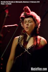 Breathe Owl Breathe at Metropolis, Montreal - photo Liz Keith, Music Vice
