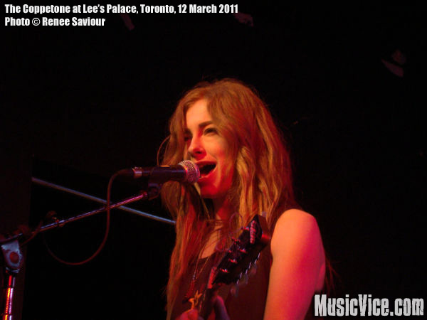 The Coppertone at Lee's Palace, Toronto, 12 March 2011 - photo Renee Saviour, Music Vice