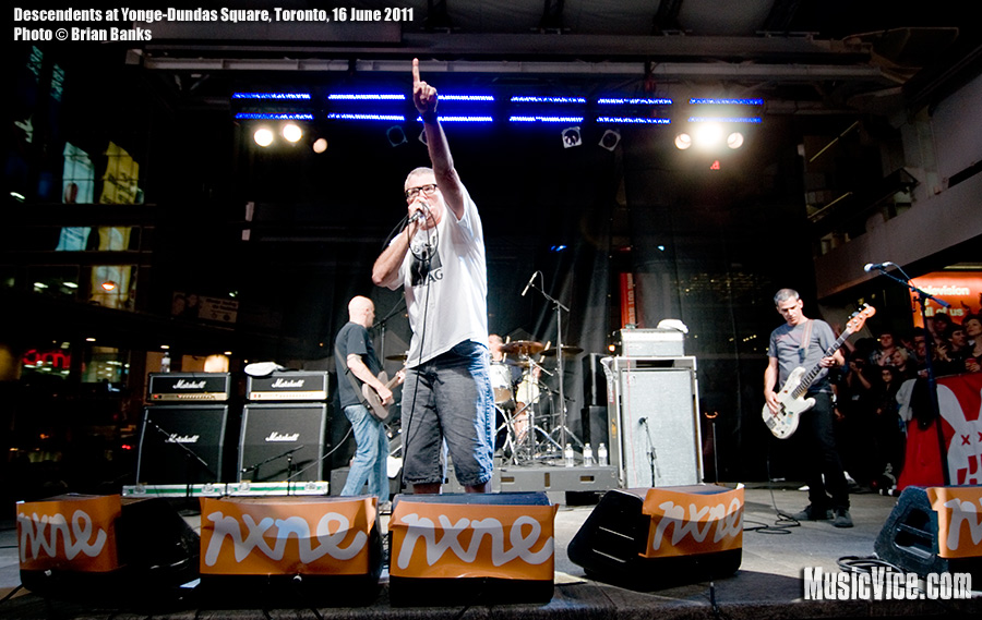 Descendents at Yonge-Dundas Square, NXNE music festival, Toronto, 16 June 2011 - photo by Brian Banks, Music Vice
