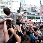 Fucked Up at Yonge-Dundas Square, Toronto, NXNE 2011 - photo by Brian Banks, Music Vice