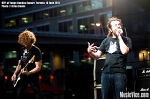 OFF! at Yonge-Dundas Square, Toronto, NXNE 2011 - photo by Brian Banks, Music Vice