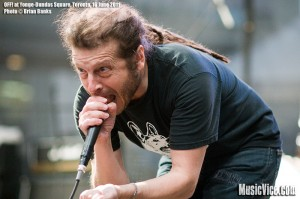 OFF! singer Keith Morris at Yonge-Dundas Square, Toronto, NXNE 2011 - photo by Brian Banks, Music Vice