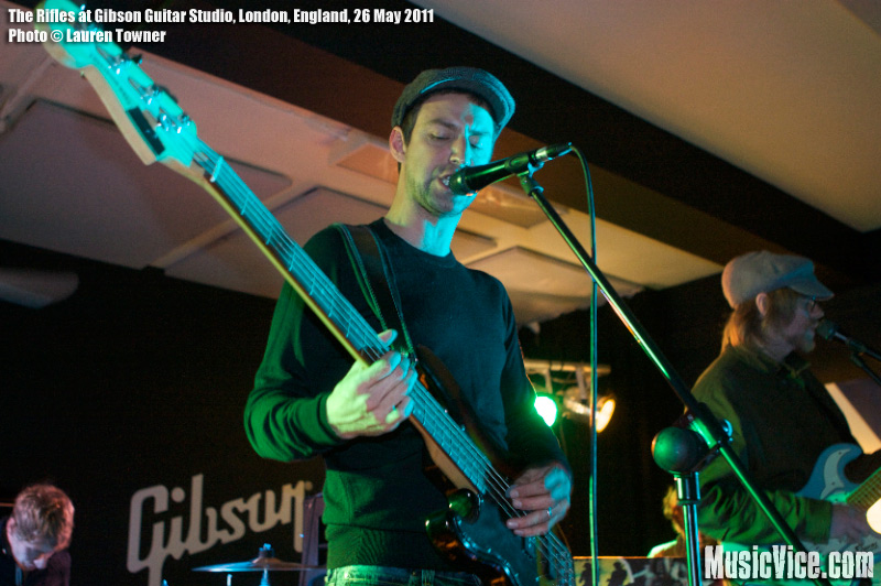 The Rifles at Gibson Guitar Studio, London, 26 May 2011 - photo by Lauren Towner, Music Vice