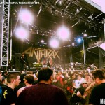 A mosh pit at Downsview Park in Toronto as Anthrax perform at Heavy T.O. festival - photograph by Brian Banks, Music Vice