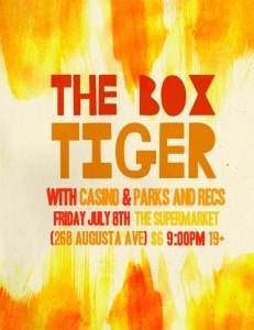The Box Tiger tour this July