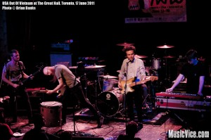 USA Out Of Vietnam at the Great Hall, Toronto, 17 June 2011, NXNE festival - photo by Brian Banks, Music Vice