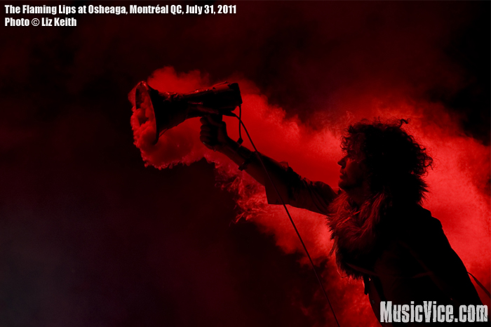 The Flaming Lips' Wayne Coyne at Osheaga music festival 2011, Montreal - photo by Liz Keith, Music Vice