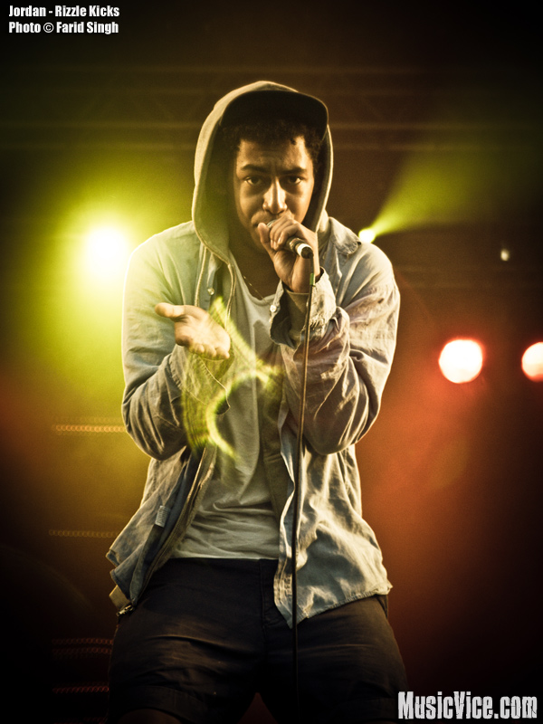 Jordan Stephens of Rizzle Kicks on stage at Strawberry Fields Festival 2011 - photo by Farid Singh, Music Vice