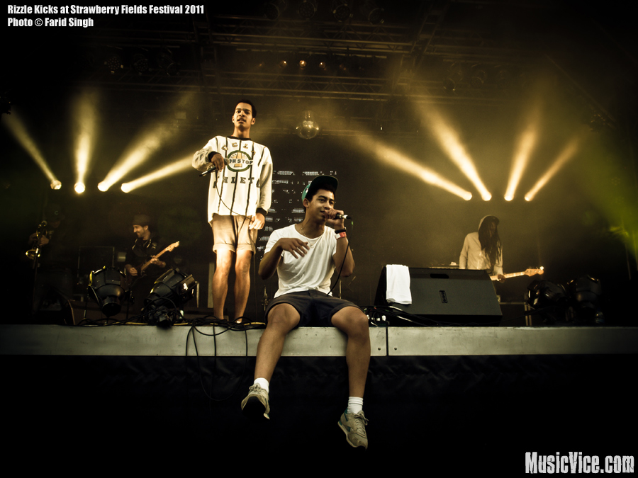 Rizzle Kicks on stage at Strawberry Fields Festival 2011, Leicestershire, England - photo by Farid Singh, Music Vice