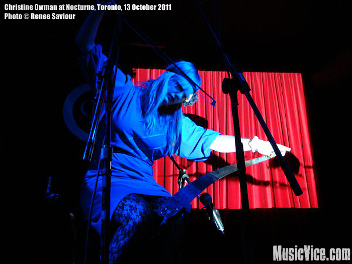 Christine Owman at Nocturne, Toronto, 23 October 2011 - photo Renee Saviour, Music Vice