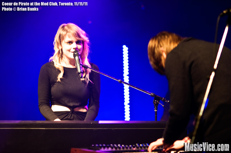 Coeur De Pirate at the Mod Club, Toronto, 11 November 2011 - photo Brian Banks, Music Vice