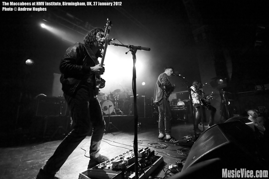 The Maccabees at HMV Institute, Birmingham, England - photo by Andrew Hughes, Music Vice