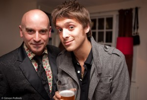 Tony Moore with Paulo Nutini - photo Simon Pollock