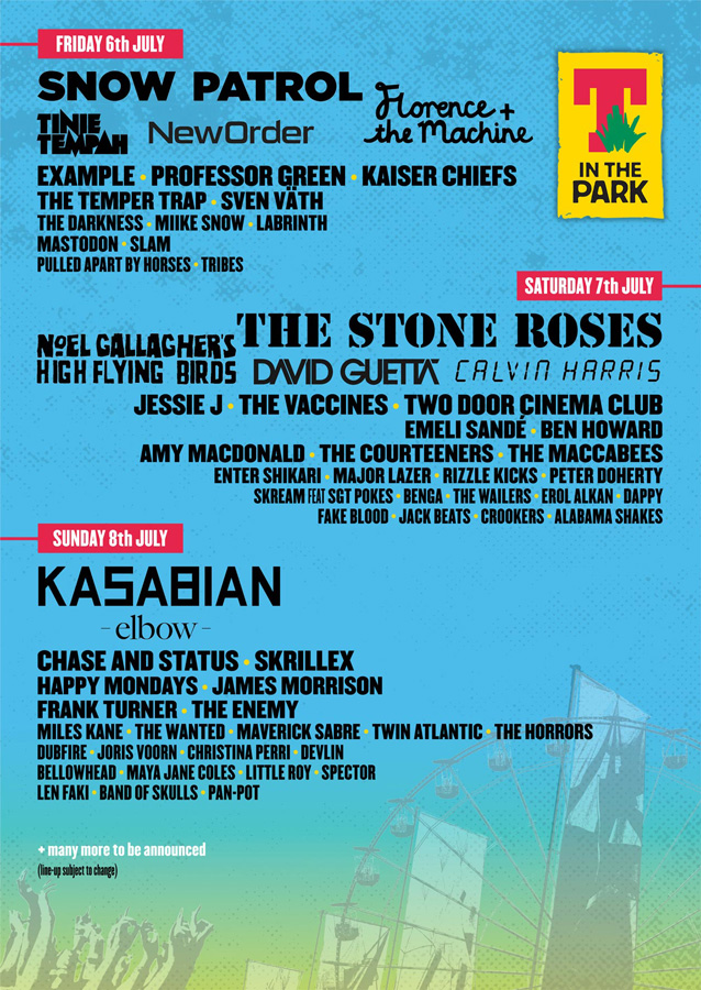 T in the Park 2012 line-up: Nicki Minaj, Noel Gallagher, New Order, Florence + the Machine, Kasabian and more